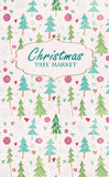 Christmas tree market lettering Stock Photography