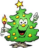 Christmas Tree  With a match. Hand-drawn Vector illustration of an Christmas Tree  With a match Royalty Free Stock Photo