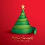 Christmas tree. Merry Christmas!. Greeting card with Christmas tree Royalty Free Stock Image