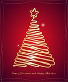 Christmas tree. Merry Christmas and Happy New Year. Vector illustration.  Stock Image