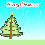 Christmas tree mery christmas Stock Photo