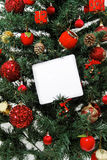 Christmas tree message Royalty Free Stock Photos