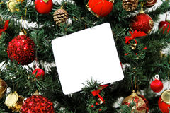 Christmas tree message Royalty Free Stock Photography