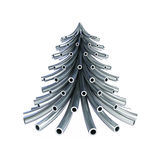 Christmas tree metal pipe. On a white background 3d Illustrations Royalty Free Stock Photography