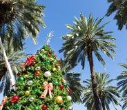 Christmas tree in Miami Stock Photos