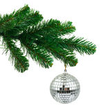 Christmas tree and mirror ball Stock Photo