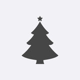 Christmas tree. Modern flat pictogram, internet concept.. Trendy Simple christmas tree vector. Winter Tree symbol for web site design or button to mobile app Stock Photos