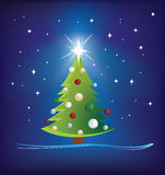 Christmas tree modern illustration Stock Photo