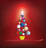 Christmas tree modern illustration Stock Image