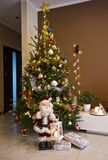Christmas tree in modern room Royalty Free Stock Photo