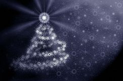 Christmas tree in moonlight Royalty Free Stock Photography