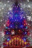 Christmas Tree Mosaic Background for the Holiday royalty free stock photography