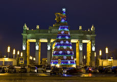 Christmas tree, Moscow Royalty Free Stock Images