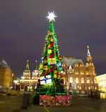 Christmas tree, Moscow Stock Images