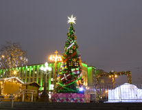 Christmas tree, Moscow Stock Image