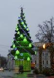 Christmas tree, Moscow. MOSCOW - DECEMBER 29, 2013: Christmas tree on Arbatskaya square Stock Photo