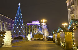 Christmas tree, Moscow Royalty Free Stock Image