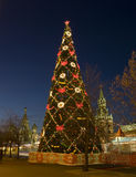 Christmas tree in Moscow Royalty Free Stock Photo