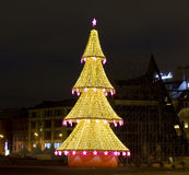 Christmas tree, Moscow Royalty Free Stock Photo