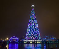 Christmas tree, Moscow Stock Photography