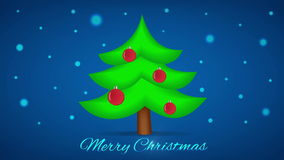 Christmas Tree. Motion Xmas Background. Loop. stock footage