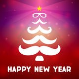 Christmas tree with a mustache Royalty Free Stock Photos