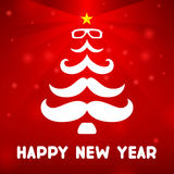 Christmas tree with a mustache Royalty Free Stock Image