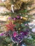 Christmas tree at my house Thailand stock photo