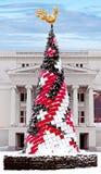 Christmas tree near theater of opera in Riga, Latvia Royalty Free Stock Photography