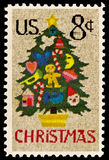 Christmas Tree in Needlepoint Issue. Christmas Tree in Needlepoint was issued in 1973 to celebrate Christmas Stock Photography
