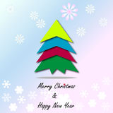 Christmas tree and new year background Royalty Free Stock Image