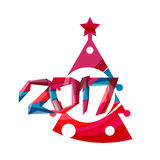 Christmas tree, New Year banner elements. With white space for text Royalty Free Stock Photo
