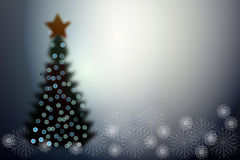 Christmas tree. New Year christmas tree  illustration Stock Photography