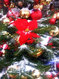 Christmas tree with New Year toys Royalty Free Stock Photos
