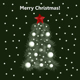 Christmas tree. New Year tree. Stock Photography