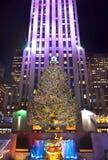 Christmas tree in New York Stock Photo