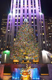 Christmas tree in New York Stock Photos