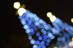 Christmas tree at night. Beautiful Christmas tree at night Stock Images