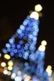 Christmas tree at night Stock Photos
