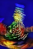 Christmas tree night blurred lighting Stock Image