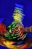 Christmas tree night blurred lighting Stock Image
