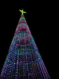 Christmas tree at night in the city Royalty Free Stock Photography