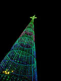 Christmas tree at night in the city Stock Photo