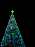 Christmas tree at night in the city Royalty Free Stock Images