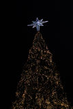 Christmas tree at night Royalty Free Stock Image