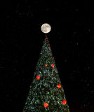 Christmas tree in the night sky Royalty Free Stock Photography
