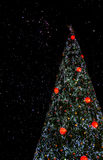 Christmas tree in the night sky Stock Photos