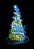 christmas tree in the night Royalty Free Stock Images