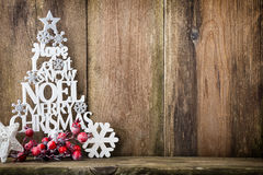 Christmas tree, Noel wish, spruce of the letters. Royalty Free Stock Photos