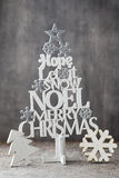 Christmas tree, Noel wish, spruce of the letters. Royalty Free Stock Photo